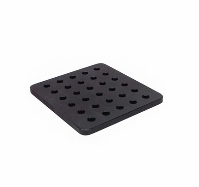 Camera Cheeseplate Black 6 x 6 x 3/8 inch