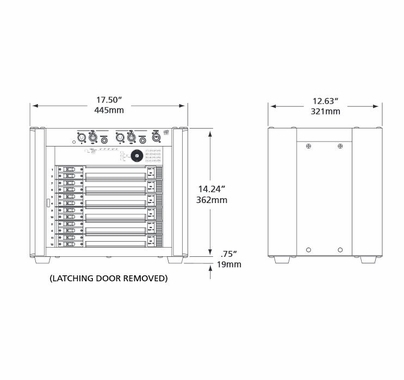 ETC Sensor3 12 Ch. 20A Portable Dimmer Pack (4) Multi-Pin