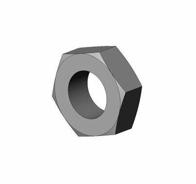 ETC Source 4 Hex Nut 9/16-18, Black Zinc
