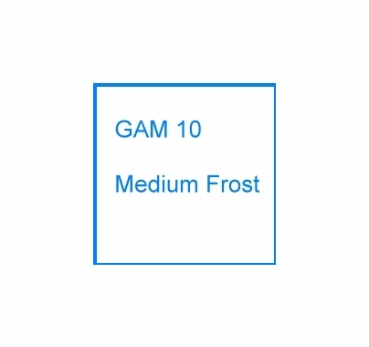 "GAM 10 Medium Frost Lighting Diffusion Gel Filter Sheet 20""x24"""