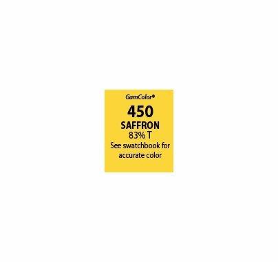 """GAM GAMcolor 450 Saffron Lighting Gel Filter Sheet 20""""x24"""""""