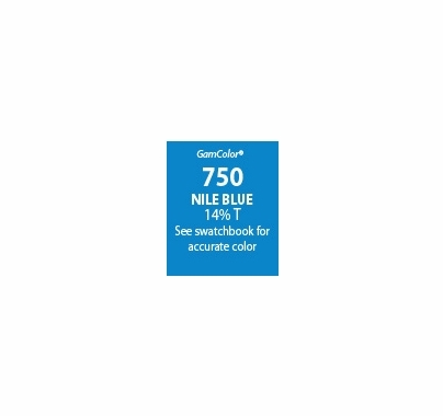 "GAM GamColor 750 Nile Blue Lighting Gel Filter Sheet 20""x24"""
