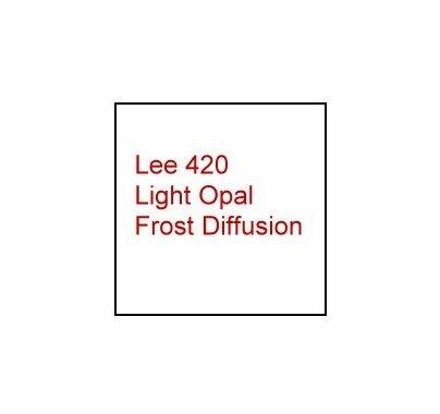 """Lee 420 Light Opal Frost Diffusion Lighting Gel Filter Sheet 21""""x24"""""""