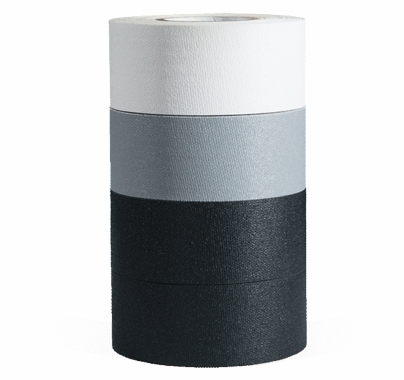 "MicroGaffer Gaffer Tape 4 Pack 1""x8yds, Black, White, Grey"
