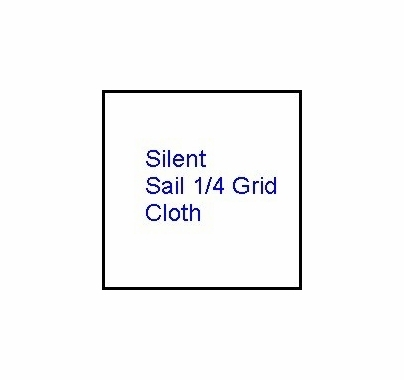 Modern Studio 8'x8' Silent  Sail / Quarter Grid Cloth w/ Bag
