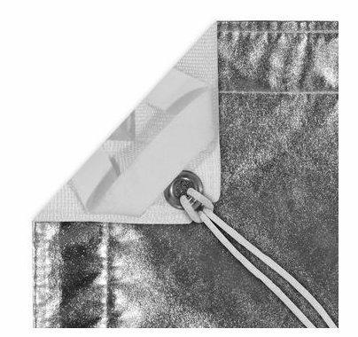 Modern Studio 8x8 Silver Lame' / White Reflector w/Bag