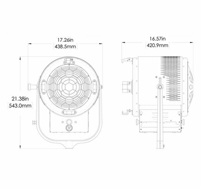 "Mole-Richardson 400w Vari-Studio Junior 10"" LED Fresnel 9521"