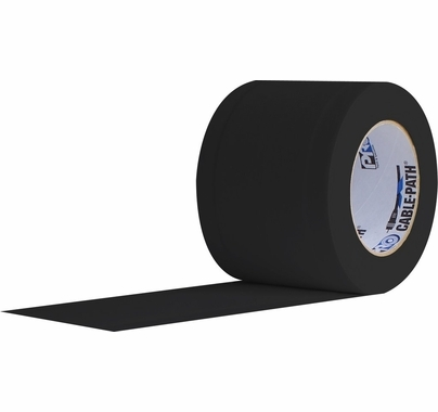 Pro Cable Path Tunnel Tape Black 6 Inch
