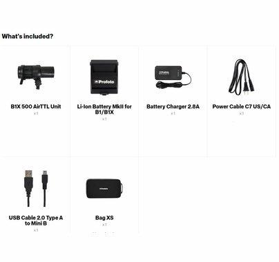 Profoto B1X Air TTL Flash 500ws To Go Kit
