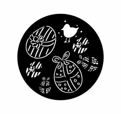 Rosco 76612 Easter Eggs Standard Steel Gobo Pattern