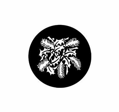 Rosco Christmas Leaves Pinecones 77954