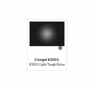 Rosco Cinegel 3001 Light Tough Rolux Gel Filter Roll