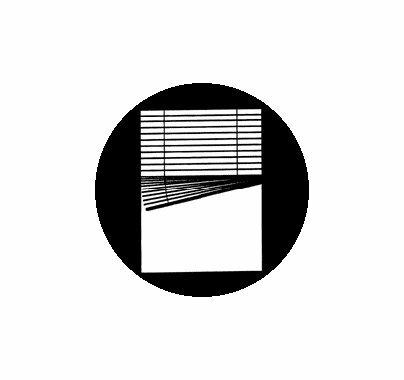 Rosco Crooked Venetian Window 78255 Standard Steel Gobo