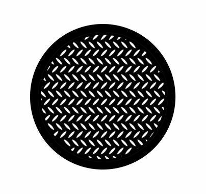 Rosco Diamond Grid 78443 Break-up Standard Steel Gobo
