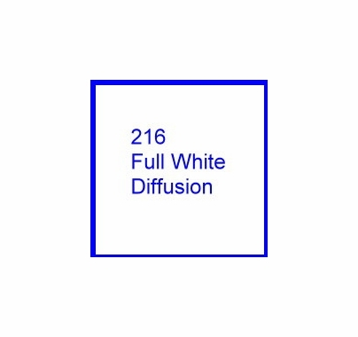 Rosco E Colour 216 Full White Diffusion Gel Filter Sheet 10 x 12 Inch