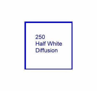 Rosco E Colour 250 Half White Diffusion Lighting Filter Gel 10 x 12 Inch