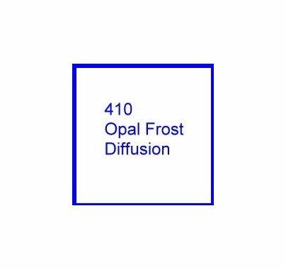 Rosco E Colour 410 Opal Frost Diffusion Gel Filter Sheet 10 x 12 Inch