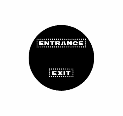 Rosco Entrance Exit 77971 Standard Steel Gobo