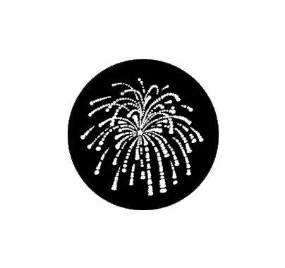 Rosco Fireworks 1 Standard Steel Gobo  77766