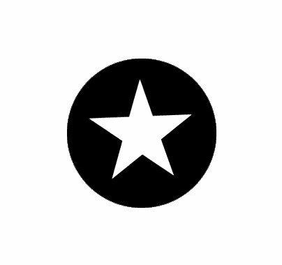 Rosco Five Point Star Steel Gobo Pattern  77708
