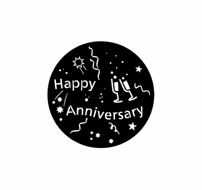 Rosco Happy Anniversary 71061 Standard Steel Gobo
