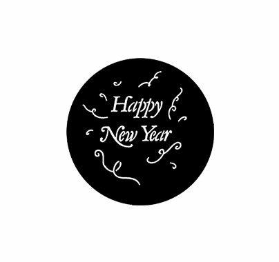Rosco Happy New Year Steel Gobo 77982