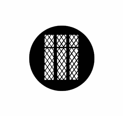 Rosco Lattice Window 77124 Standard Steel Gobo