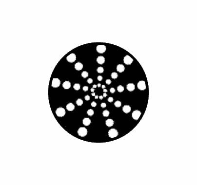 Rosco Radial Circles 79702 Standard Steel Gobo
