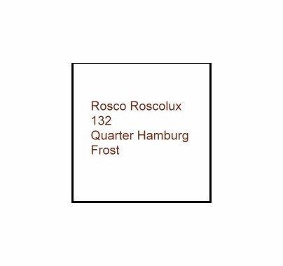 Rosco Roscolux 132 Quarter Hamburg Frost Gel Filter Sheet