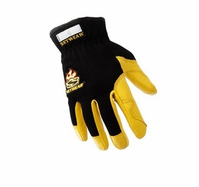 Pro Leather Lighting Gloves Black / Tan