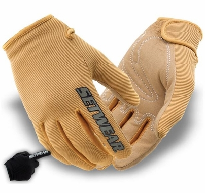Tan Stealth Nylon Work Gloves Touch Screen Friendly