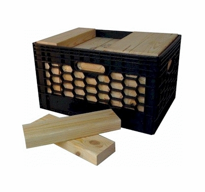 "Advantage Short Wood Cribbing 2x4x11 3/4""  (35) Pieces in Milk Crate"