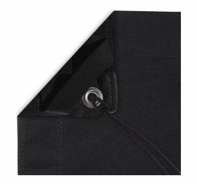 Modern Studio 20x20 Solid Black Fabric Overhead w/Bag, 059-2031