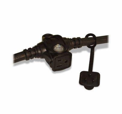 E-String 50ft.  BLACK Six Outlet Extension Cord  Black 50112BA