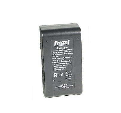Frezzi 100WH Lithium-Ion Battery w/ Meter for Anton Bauer Mount FLB-100
