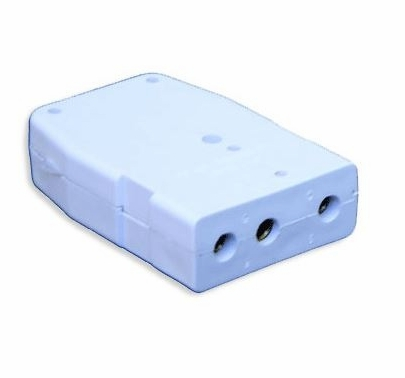 White 20A Stage Pin Connector Female In-Line 120VAC