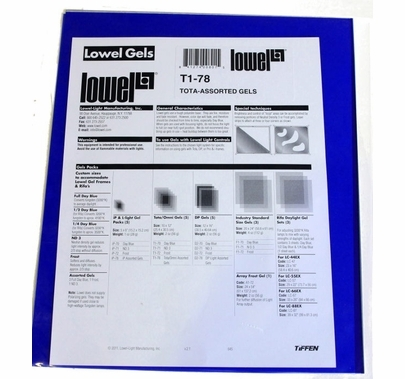 """Assorted Gels 10""""x12""""  T1-78   5 Pack"""