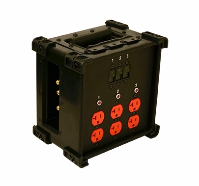 Lex 60 Amp CineBox Feed Thru Edison Distro Lunch Box