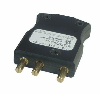 Lex 60A 120VAC Male Stage Pin Inline Plug 60 Amp G60M