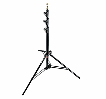 Manfrotto 1004BAC  Black Alu Master Stand Air Cushioned 12' 4 Sect., 3 Risers