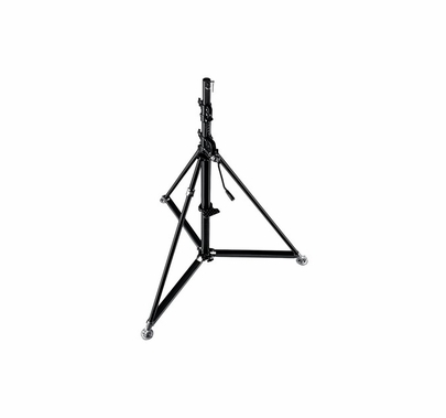Manfrotto Super Wind Up Blck Steel Stand-Black 387XBU