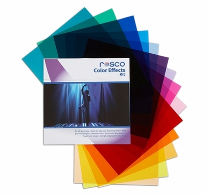 """Rosco Color Effects Party Gel Filter Pack (15) Sheets 20""""x24"""""""