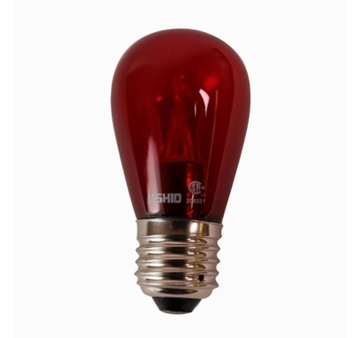 Ushio S14 Red LED Utopia Lamp 2W Medium Base