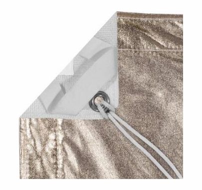 Modern Studio 10x20 Gold/White Lame With Bag