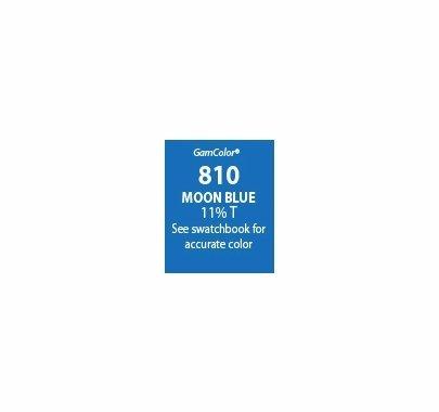 """GAM GAMcolor 810 Moon Blue Lighting Gel Filter Sheet 20""""x24"""""""
