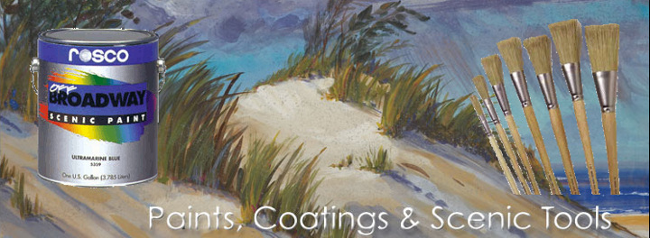 Rosco Paint, Flame Retardants, Brushes