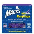 Mack's AquaBlock Reusable Swimming Ear Plugs (2 Pairs)