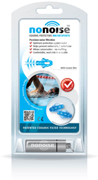 NoNoise Water Sports Model 162 Silicone Free Thermoplastic Reusable Ear Plugs with Precise Noise Filtration (SNR 20)