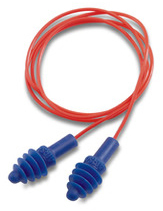 Howard Leight by Honeywell AirSoft Reusable Ear Plugs w/Red Poly-Cord (NRR 27) (Box of 100 Pairs)