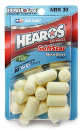 Hearos 5511 SoftStar NexGen Series Foam Ear Plugs (NRR 30) (14 Pairs)